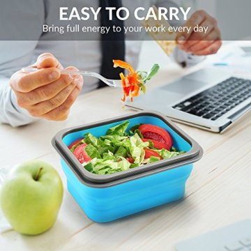 Silicone folding microwave oven lunchbox