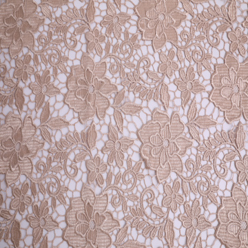 Shiny Polyester Yarn Chemical Lace Embroidery Fabric