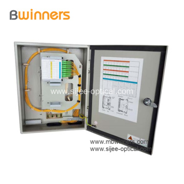 Outdoor FTTH Splitter Fiber Distribution Cabinet 32 Cores