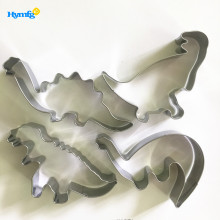 Stainless Steel 3D Dinosaur Cookie Cutter Set