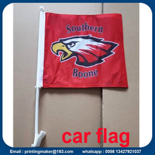 Car Window Advertising Flag with Plastic Pole
