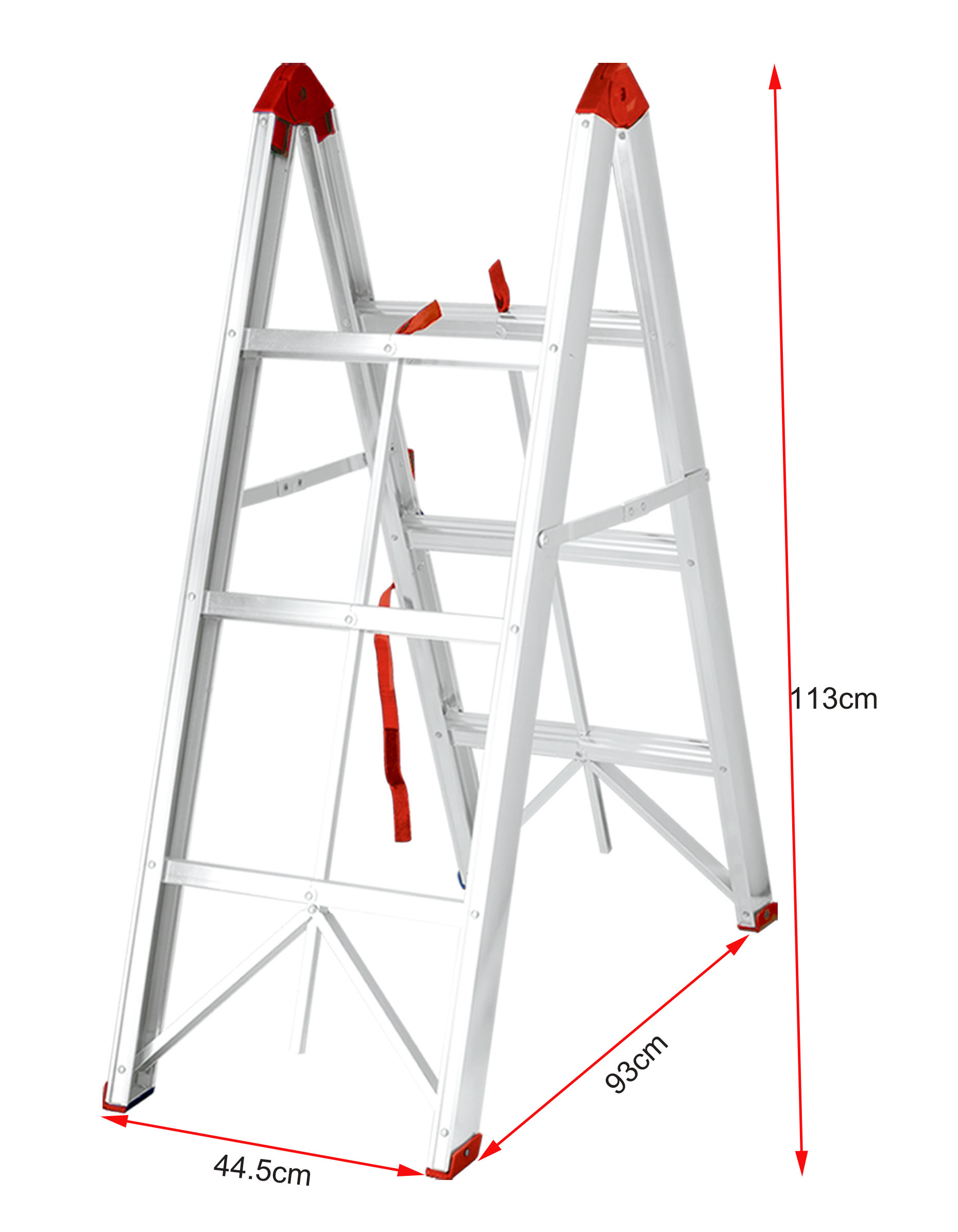 Aluminum stick step ladder