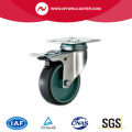 Braked Grey TPR Light Duty Industrial Caster Wheel
