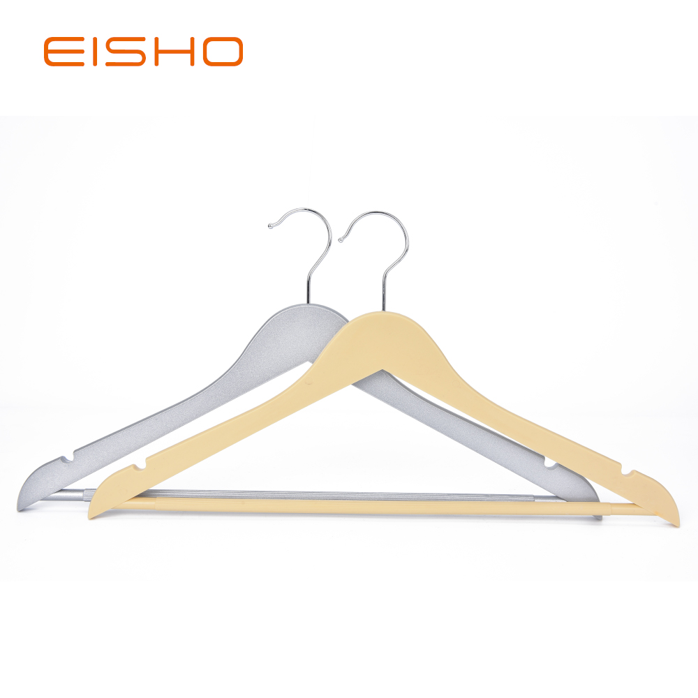 Eisho Solid Wood Black Laundry Wooden Shirts Hanger6