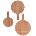 3 pcs round shape cutting board set