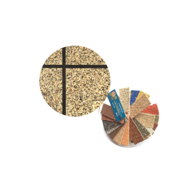 Multi-color rock-chips for Exterior Wall Paint
