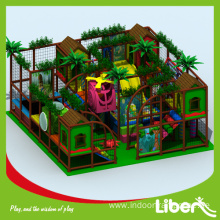 Indoor playground with softplay safety net rides