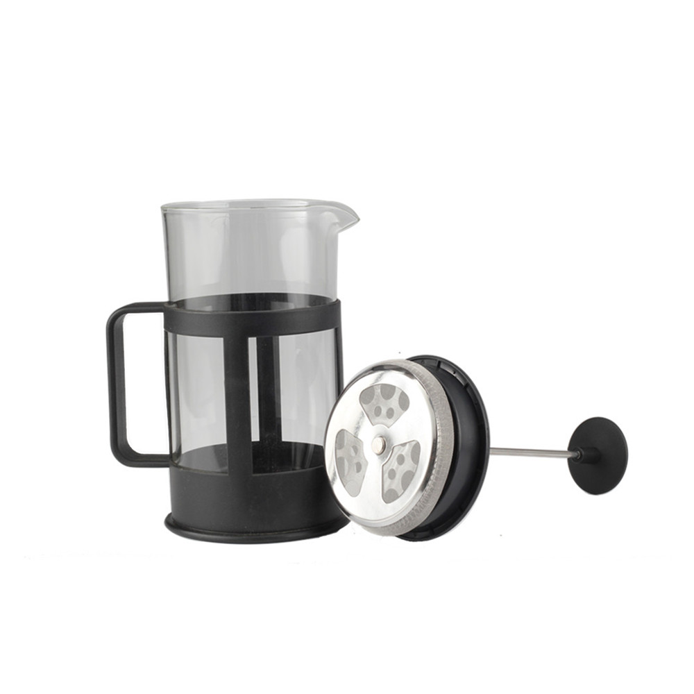 Heat Resistant Handle Of Glass French Press Coffee Kettle