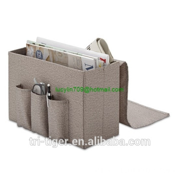 MAGAZINE RACK Storage Organizer  Jinan Tri-Tiger 6 Pocket Bedside Storage Mattress Book Remote Caddy