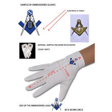 Factory Outlets for China Masonic Embroidery Nylon Gloves,Theatrical Adult Gloves,Masonic Dress Polyester Gloves Manufacturer and Supplier Polyester Masonic Gloves for Freemasons export to Togo Wholesale