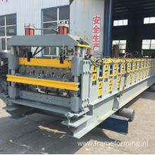 Double layer roofing tile making machine