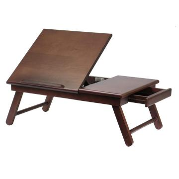Wooden Bamboo Folding Coffee Tray Table for Sofa