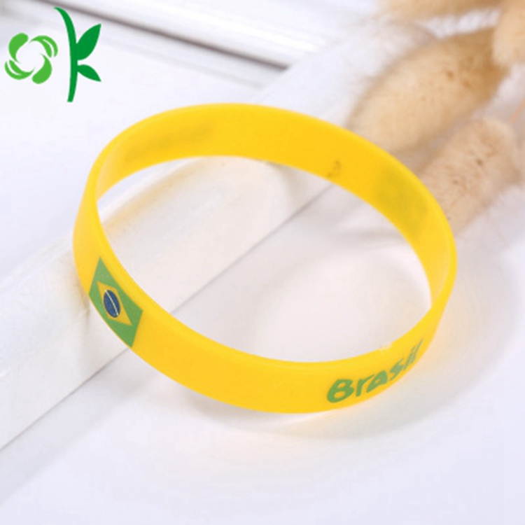Yellow And Green Printing Logo Bracelet