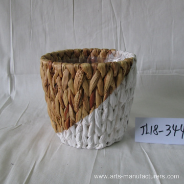 Custom Round Water Hyacinth Flower Pot