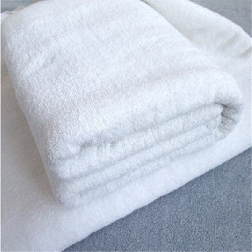 white cotton waffle weave bath foot towel