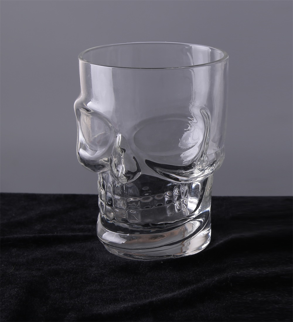Br 9964heavy Base Skull Face Shot Glass