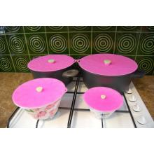 Factory Supply Factory price for Lily Nursing Pads Chef Quality Wholesale Universal Silicone Pot Lid Sets supply to South Korea Factory
