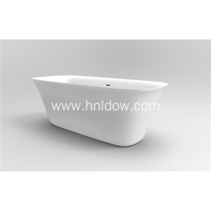 Soaking Free Standing Pure Acrylic Slipper Bathtub