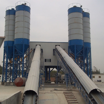 Belt conveyor HZS180 ready mixed concrete batching plant