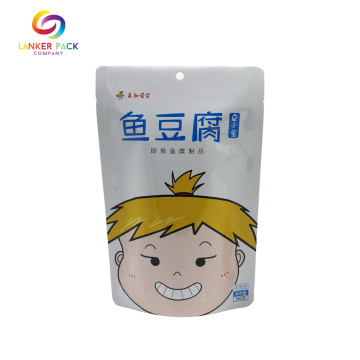 Waterproof Stand Up Pouch With Zipper For Food