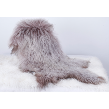 Mongolian Lamb Fur Sheepskin Dyed with Snowtop