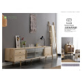 White Ash TV Stand Living Room Solid Wood
