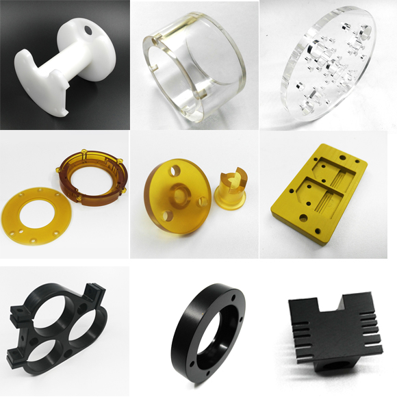 Samples of machining plastic parts