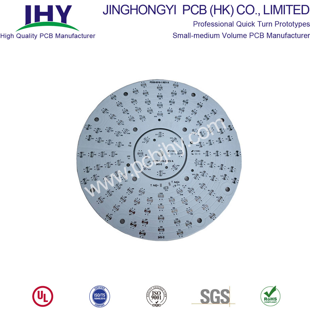 Round White 1 Layer 1oz LED PCB