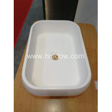 New Delivery for China Countertop Washbasin,Bathroom Countertop Washbasin,Acrylic Countertop Washbasin,Countertop Art Washbasin Exporters White Oval Countertop stone resin Wash Basins supply to United States Minor Outlying Islands Exporter