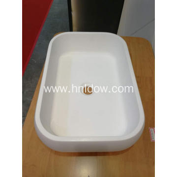 PriceList for Countertop Washbasin White Oval Countertop stone resin Wash Basins supply to Bosnia and Herzegovina Exporter