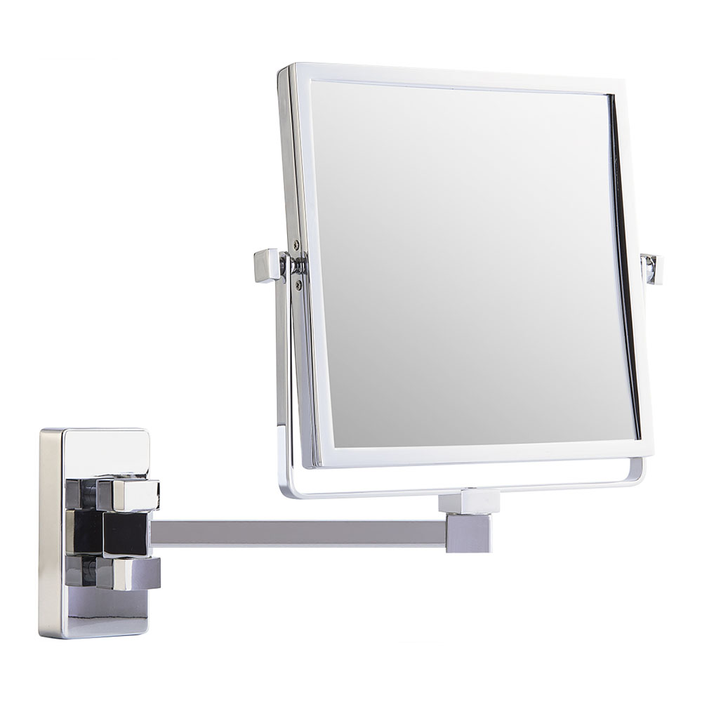 Single arm wall double vanity mirror