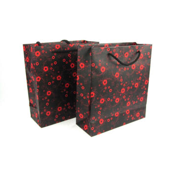Advertising Paper Shopping Bag With Cotton Handle