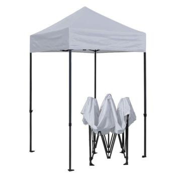 outdoor white walled 2.5 x 2.5 waterproof retractable gazebo