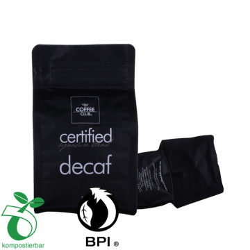 12 oz box bottom coffee beans bag with zipper and valve