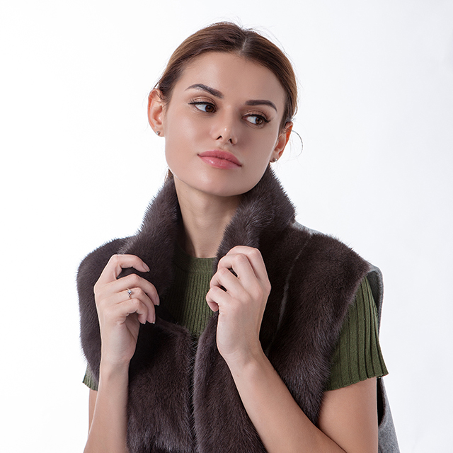Fashion mink cashmere jacket