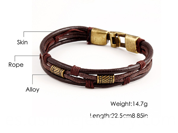 Multi Layers Leather Bracelet