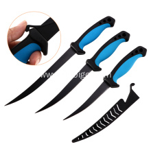 Non-stick Coating Fish Fillet Knife Set With Scabbard