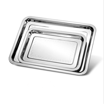 Stainless Steel Rectangle Plate Food Serving Tray