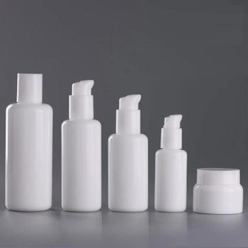 Cosmetic skincare white porcelain bottle custom cream bottle