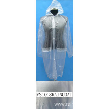 Adult Plastic Transparent Ladies Raincoat