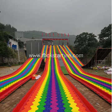 Rainbow Slide For Outdoor Amusement Park Equipment
