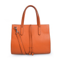 Colorful Smooth Leather Lady Business Travel Tote Handbags