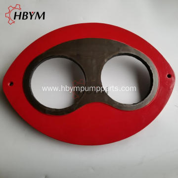 Free sample for Concrete Pump Parts Mitsubishi Concrete Pump Spare Parts Wear Spectacle Plate export to Dominican Republic Manufacturer