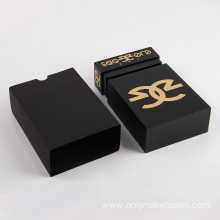 Black Empty Watch Jewelry Paper Packaging Square Box