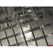 Warp knitted biaxial polyester geogrid