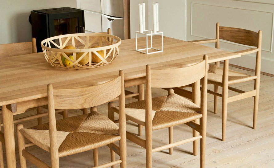 wegner CH327 wood dining table