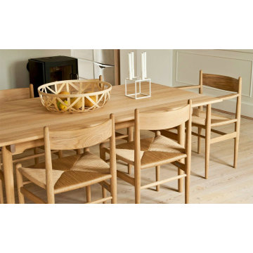 Replica rectangle wegner CH327 wood dining table