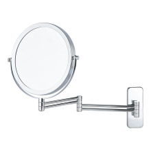 Adjustable round double vanity mirror