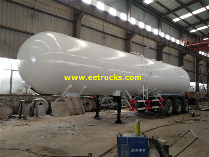 Tri-axle Propane Gas Trailer Tanks