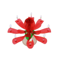 Rose flower shape candle with music